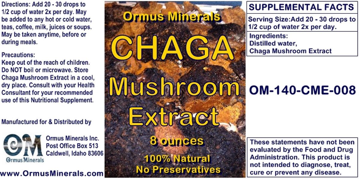 Ormus Minerals CHAGA Mushroom Extract 8 oz