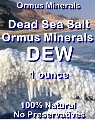 Ormus Minerals Dead Sea Salt Ormus Minerals DEW