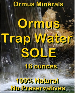 Ormus Minerals Ormus Trap Water Sole
