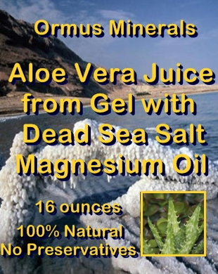 Ormus Minerals Aloe Vera Juice from Gel with Pure Magnesium Oil