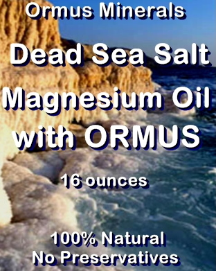 Ormus Minerals Dead Sea Salt Magnesium Oil with Ormus