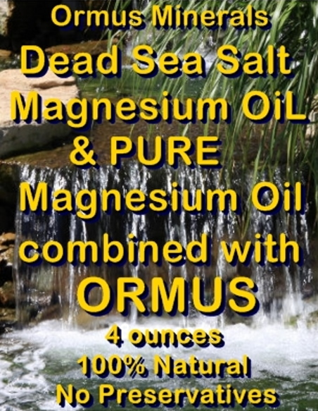 Ormus Minerals Combined Dead Sea Salt Magnesium Oil & Pure Magnesium Oil