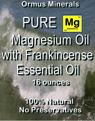 Ormus Minerals Pure Magnesium Oil with Frankincense Essential Oil