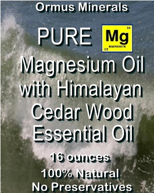 Ormus Minerals Pure Magnesium Oil with Himalayan Cedar Wood Essential Oil