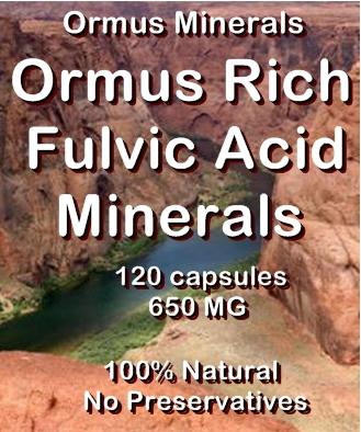 Ormus Minerals Ormus Rich Fulvic Acid Minerals