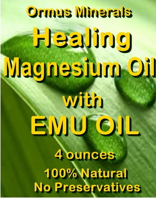 Ormus Minerals Magnesium Oil with EMU Oil