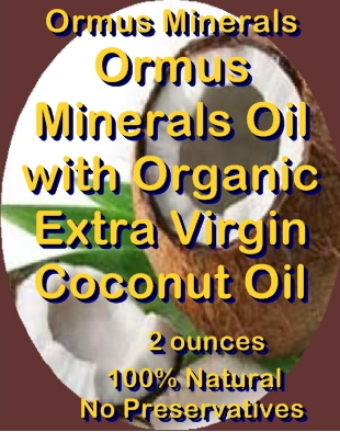 Ormus Minerals Oil with Organic Extra Virgin Coconut Oil