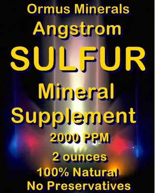Ormus Minerals - Angstrom SULFUR Mineral Supplement