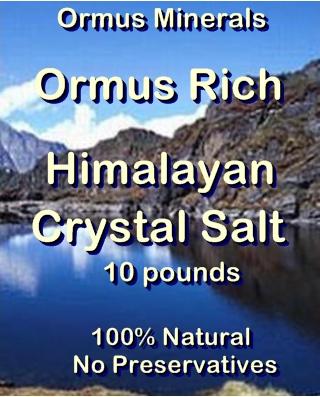 Ormus Minerals Ormus Rich Himalayan Crystal Salt