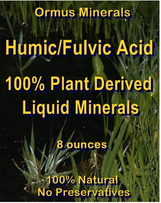 Ormus Minerals Humic-Fulvic Acid 100% Plant Derived Liquid Minerals