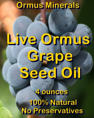 Ormus Minerals Live Ormus Grape Seed Oil