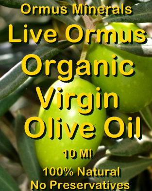 Ormus Minerals Live Ormus Organic Virgin Olive Oil