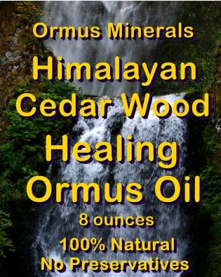 Ormus Minerals Himalayan Cedar Wood Healing Ormus Oil
