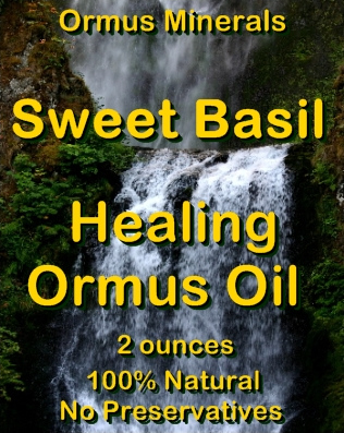 Ormus Minerals Seet Basil Healing Ormus Oil