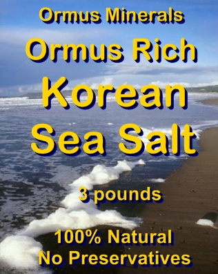 Ormus Minerals Ormus Rich Korean Sea Salt
