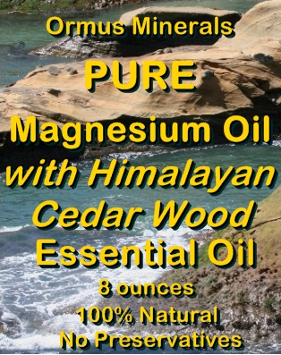 Ormus Minerals Combo Set Ocean Energy and Pure Magnesium Oil with Himalayan Cedar Wood EO