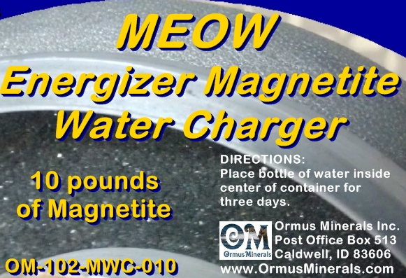 Ormus Minerals Energizer Magnetite Water Charger 10lbs