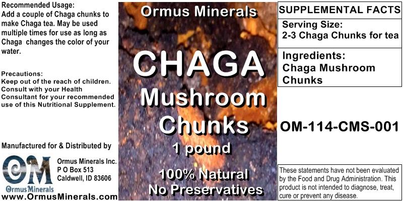 Chaga Mushroom Chunks