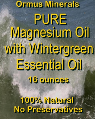 Ormus Minerals Pure Magnesium Oil with Wintergreen EO