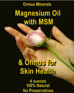 Ormus Minerals Magnesium Oil with MSM & Ormus for Skin Health