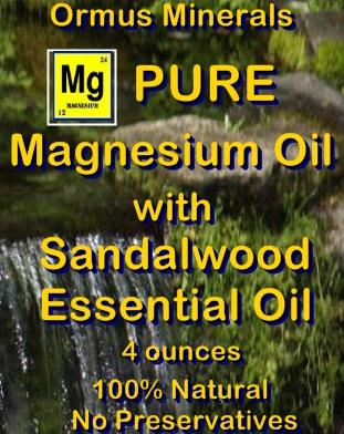Ormus Minerals PURE Magnesium Oil with Sandalwood Essential Oil