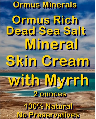 Ormus Minerals Ormus Rich Dead Sea Salt Mineral Skin Cream with Myrrh
