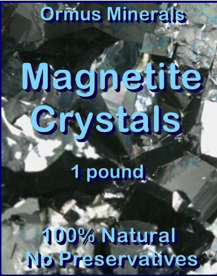 Ormus Minerals Magnetite Crystals