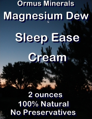 Ormus Minerals Magnesium Dew Sleep Ease Cream