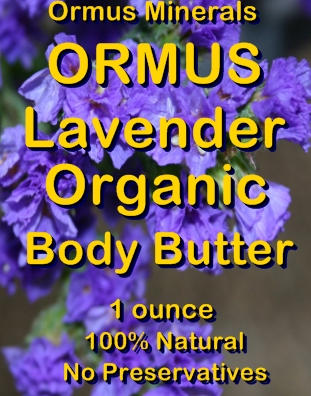Ormus Minerals Ormus Lavender Organic Body Butter