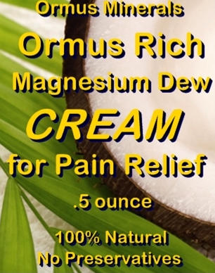 Ormus Minerals Ormus Rich Magnesium Dew Cream for Pain Relief
