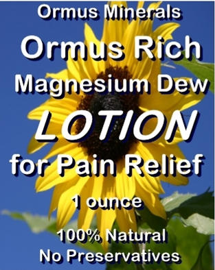 Ormus Minerals Ormus Rich Magnesium Dew Lotion for Pain Relief
