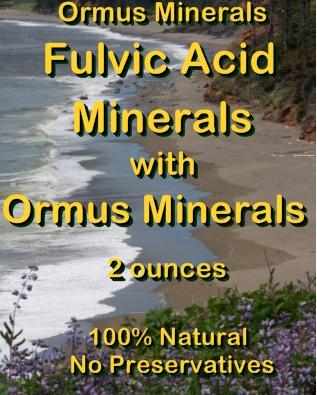 Ormus Minerals Fulvic Acid Minerals with Ormus Minerals