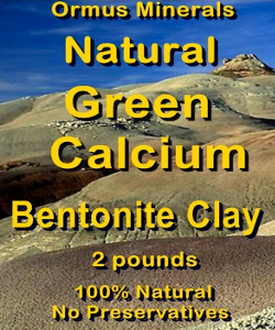 Ormus Minerals Natural GREEN CALCIUM Bentonite Clay