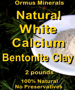 Ormus Minerals Natural WHITE CALCIUM Bentonite Clay