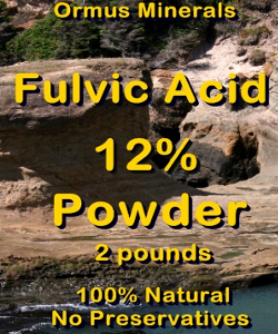 Ormus Minerals FULVIC ACID 12% Powder