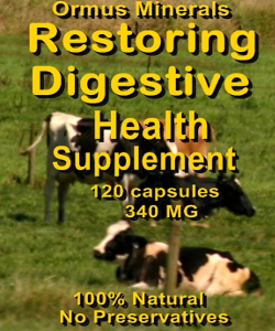 Ormus Minerals RESTORING Digestive Health Supplement