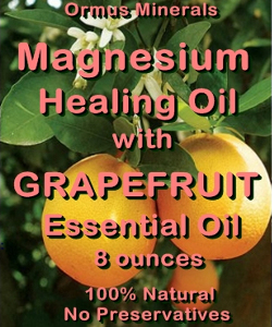 Ormus Minerals Magnesium Healing Oil with GRAPEFRUIT EO