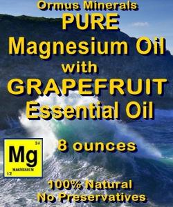Ormus Minerals Magnesium Oil with GRAPEFRUIT ESSENTIAL OIL