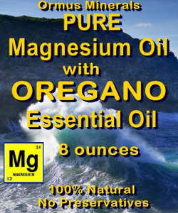 Ormus Minerals Magnesium Oil with OREGANO ESSENTIAL OIL