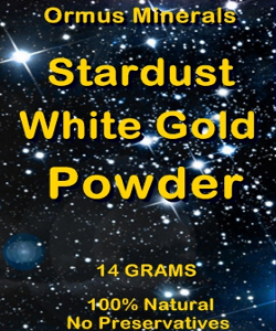 Ormus Minerals STARDUST White Gold Powder