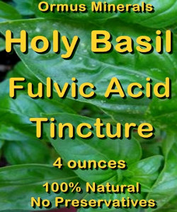Ormus Minerals - Holy Basil Fulvic Acid Tincture