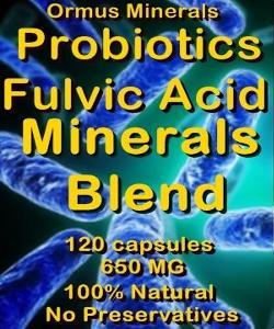 Ormus Minerals Probiotics Fulvic Acid Minerals Blend