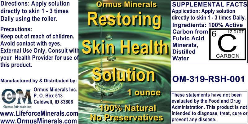 Ormus Minerals - Restoring Skin Health Solution