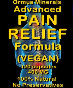 Ormus Minerals Advanced Pain Relief Formula - vegan capsules