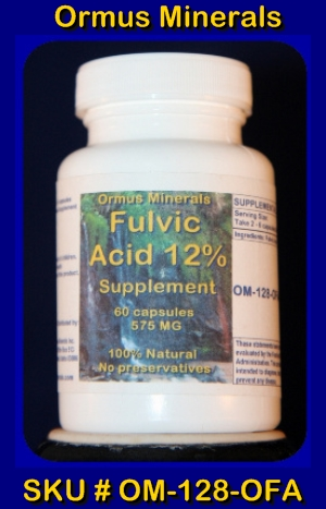 ORMUS MINERALS - Fulvic Acid 12 Percent Supplement (B)