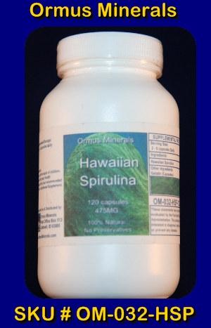 ORMUS MINERALS - Hawaiian Spirulina (B)