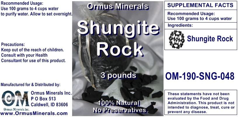 Ormus Minerals - Shungite Rock