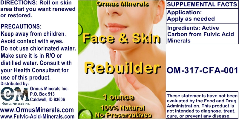 Ormus Minerals - Face and Skin Rebuilder
