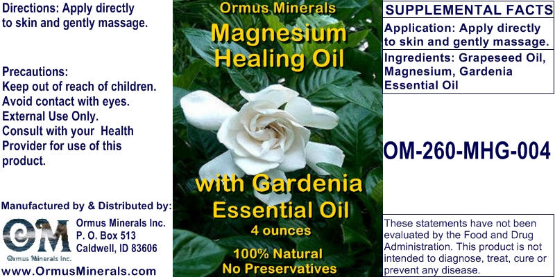 Ormus Minerals - Magnesium Healing Oil with Gardenia Essential Oil