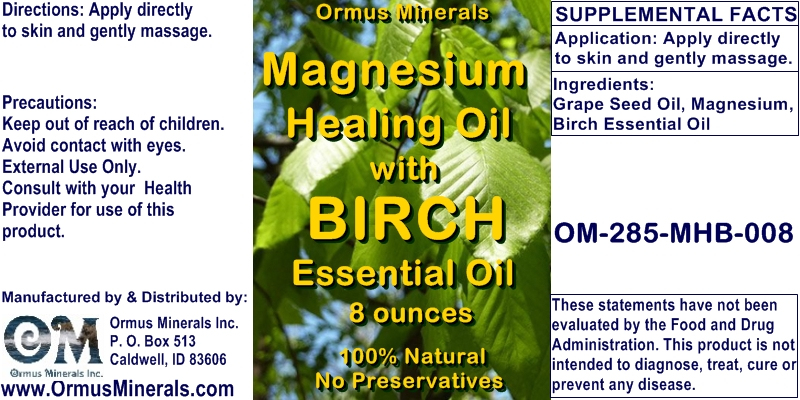 Ormus Minerals - Mg Healing Oil with Birch Essential Oil
